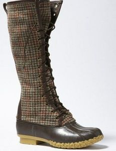 L.L. Bean Houndstooth Bean boot